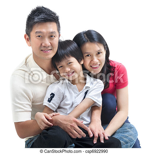 Happy Asian family - csp6922990