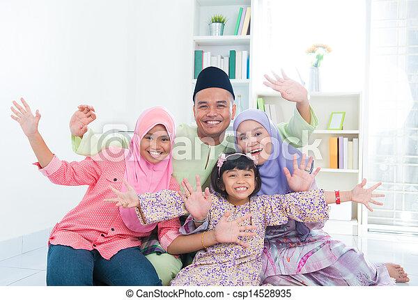 Happy Asian family - csp14528935