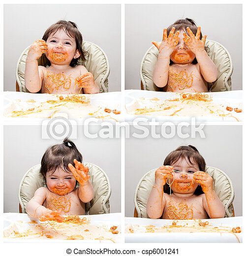 Happy baby funny messy eater - csp6001241
