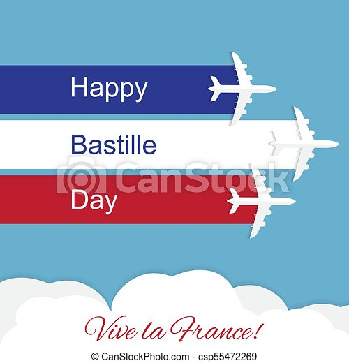Happy bastille day independence day of france vector greeting card happy bastille day independence day of france csp55472269 m4hsunfo