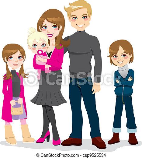 Happy Beautiful Family - csp9525534
