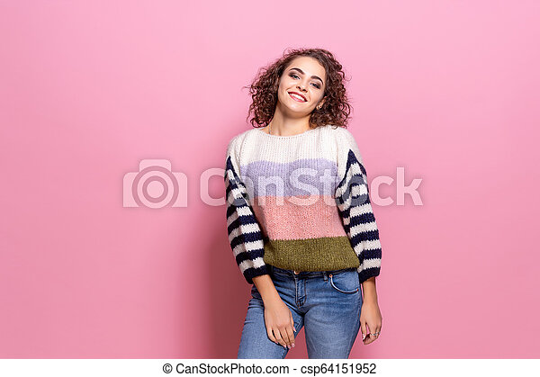 happy beautiful girl with amazing toothy stock images csp64151952