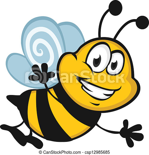 happy bee vector search clip art illustration drawings and eps rh canstockphoto com bee vectoring work bee vector drawing