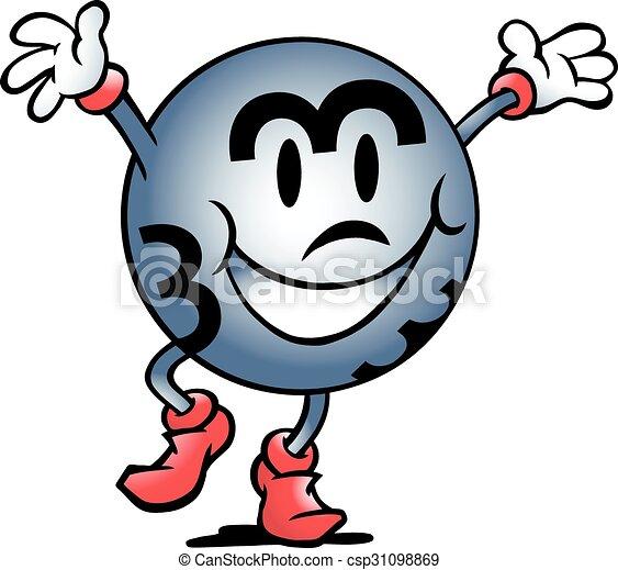 vector cartoon illustration of a happy bingo ball winner clip art rh canstockphoto com