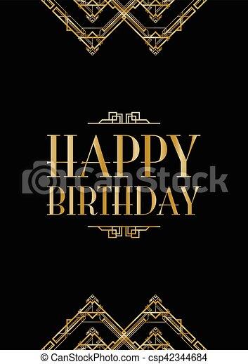 Happy Birthday Art Deco Images