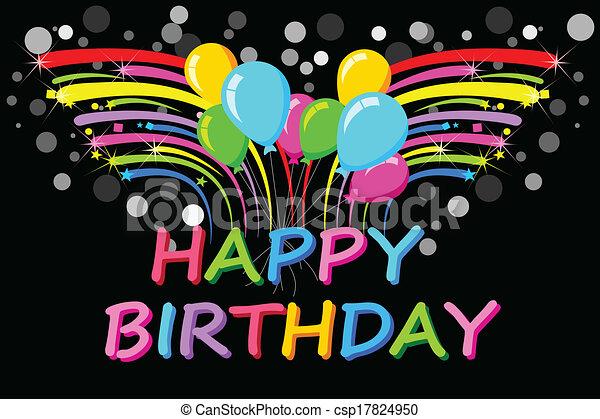 Happy Birthday Background - csp17824950
