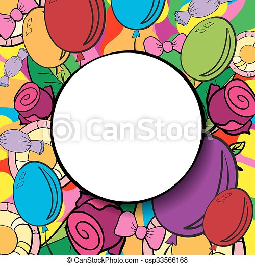 happy birthday background or card with colorful background clip art rh canstockphoto com  birthday party background clipart