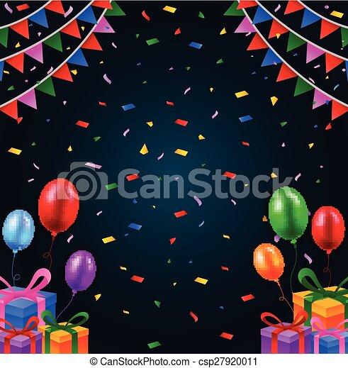 vector illustration of happy birthday background