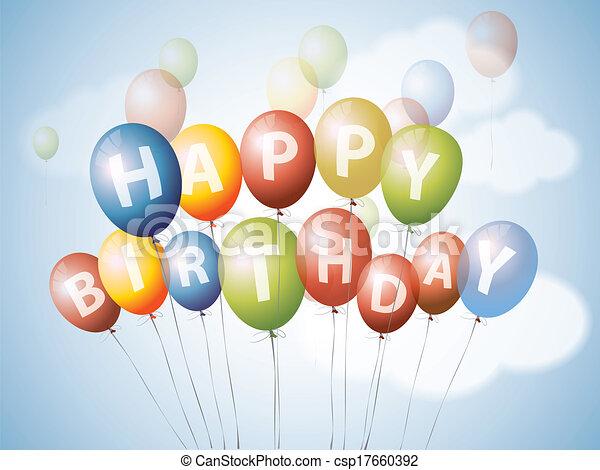 Happy birthday balloons - csp17660392