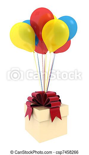 Happy birthday balloons - csp7458266