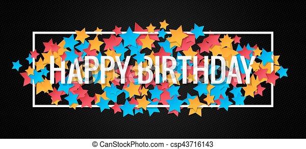 happy birthday banner design background csp43716143