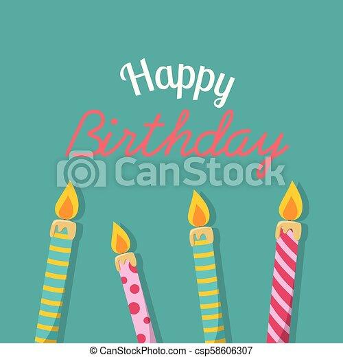 Happy Birthday Birthday Candles Background Vector Image - csp58606307