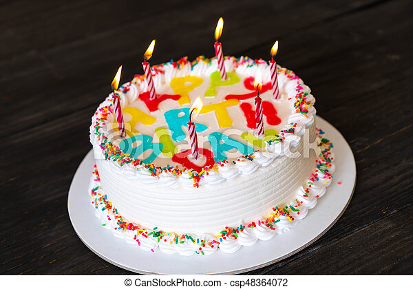 Happy Birthday Cake On Table