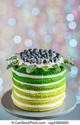 Happy Birthday Cake Nice Sponge With Mascarpone