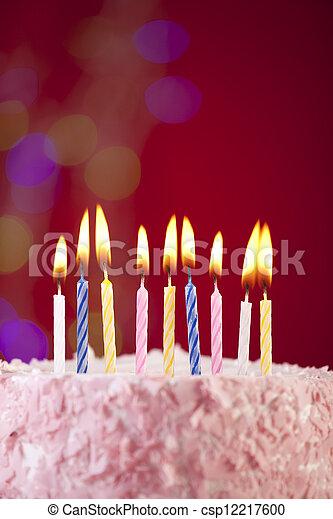 happy birthday cake - csp12217600