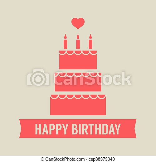 Happy birthday cake vector Happy birthday cake vector eps vector