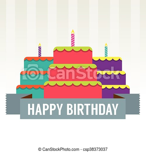 Happy birthday cake vector Happy birthday cake vector vectors
