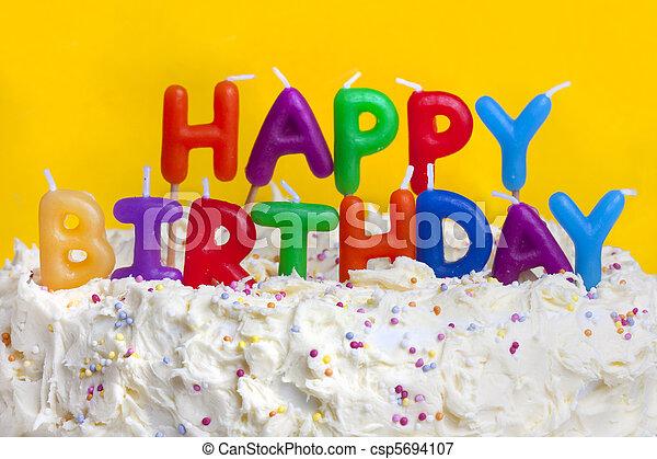 Happy Birthday Cake With Message Happy Birthday Cake Shot On A