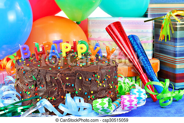 Happy Birthday Cake Balloons Gifts Happy Birthday Candles On Top