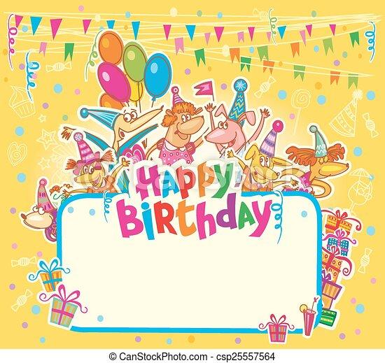Happy birthday card - csp25557564