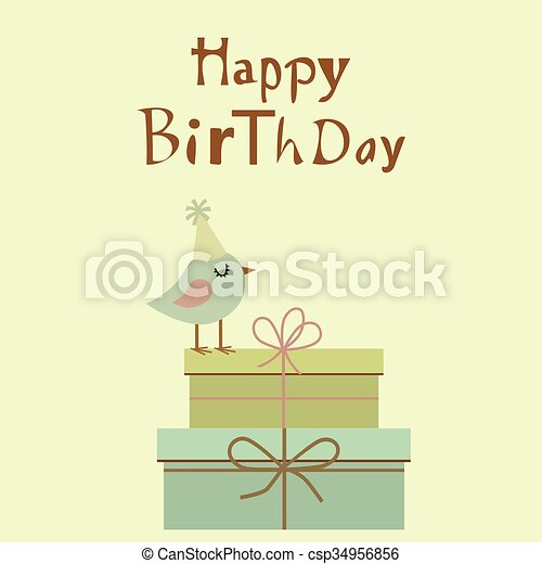 Happy Birthday card - csp34956856