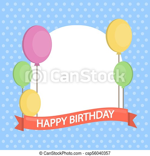 Happy Birthday Card Happy Birthday Greeting Card With Empty Space
