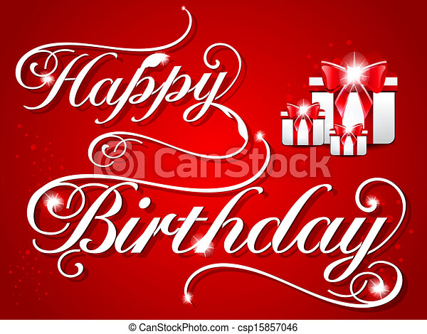 Happy Birthday Card Design Vector Illustration Drawing Search Clip