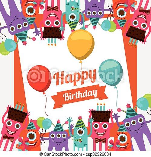 Happy Birthday Card Design Happy Birthday Card Design Vector
