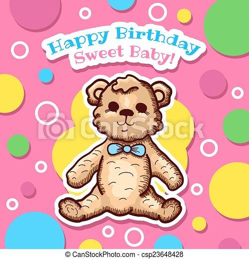 Happy Birthday Card Design Colorful Happy Birthday Baby Card Design