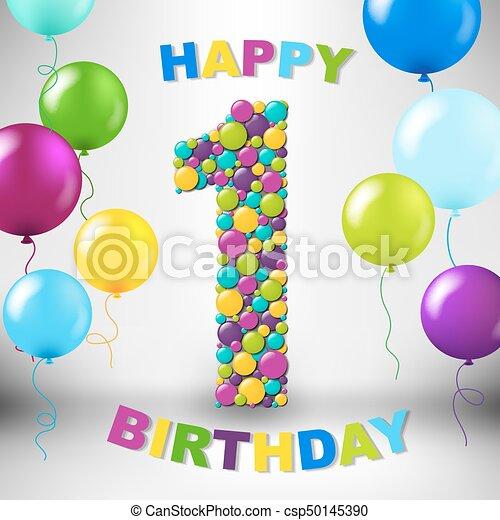 Happy Birthday Card - csp50145390