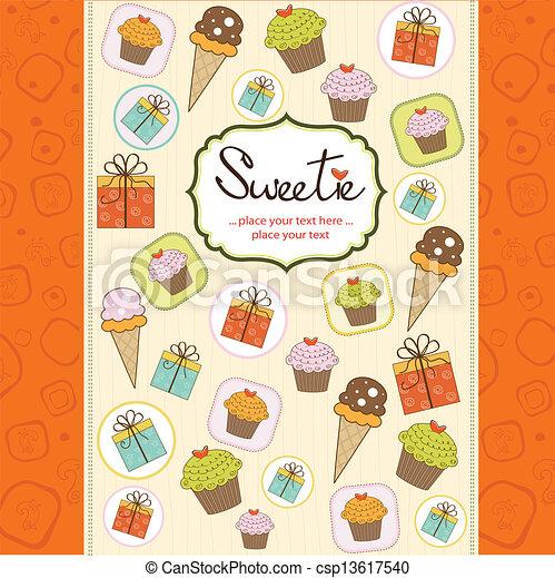 happy birthday card - csp13617540