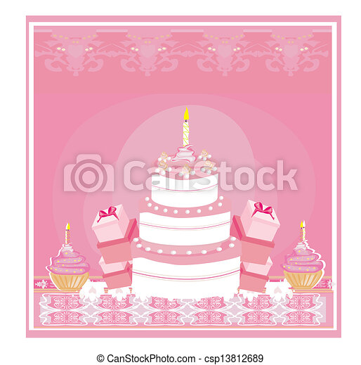 Happy Birthday Card  - csp13812689