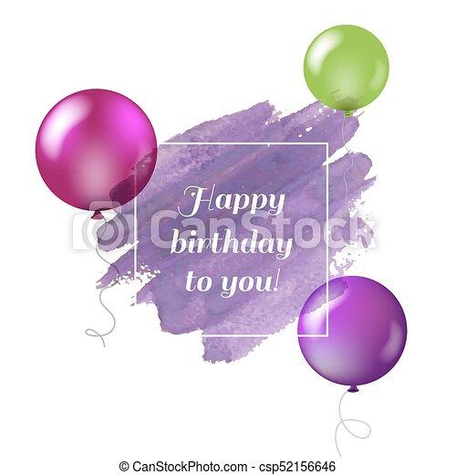 Happy Birthday Card - csp52156646