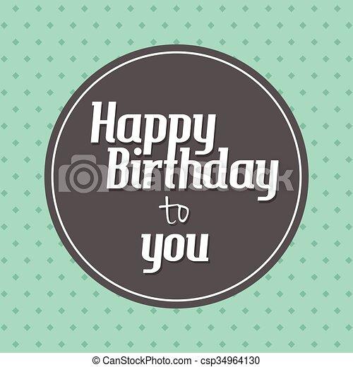 Happy birthday card - csp34964130