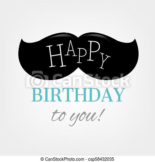 Happy Birthday Card - csp58432035