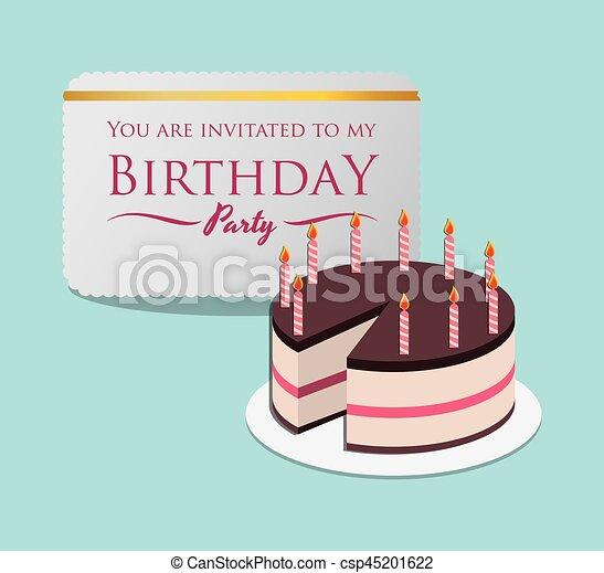 Happy Birthday Card Invitation Event Party