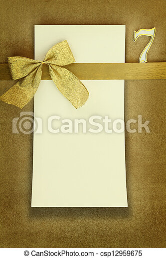 Happy Birthday Card On Golden Background