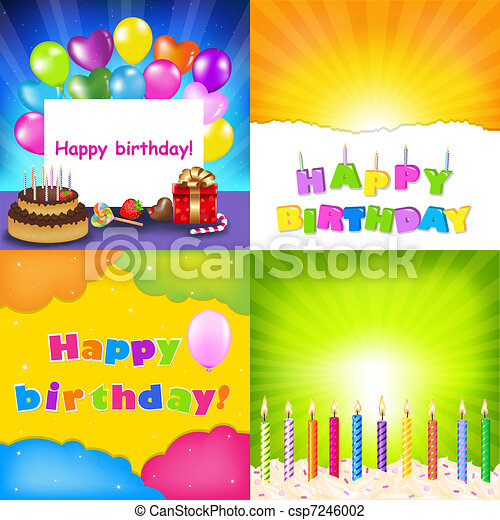 Happy Birthday Card Set - csp7246002