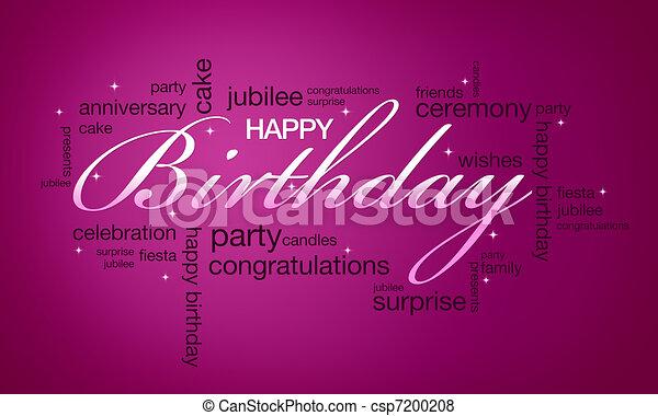 Happy Birthday Card High Resolution Pink Ready