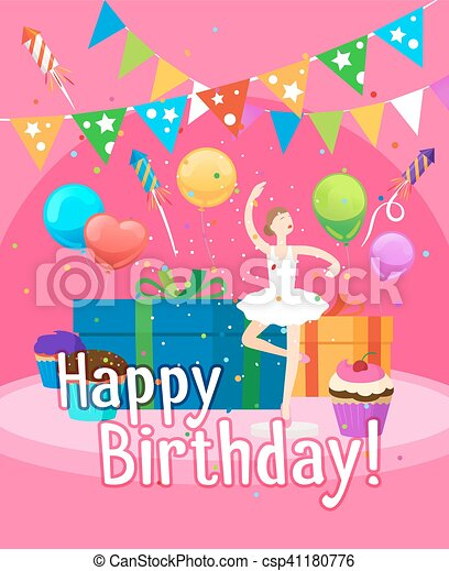 Happy Birthday Card Template For Girl