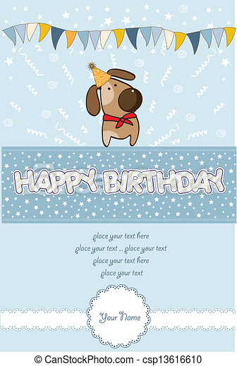 happy birthday card - csp13616610