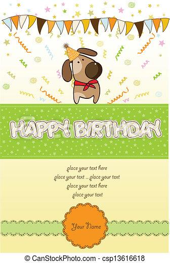 happy birthday card - csp13616618
