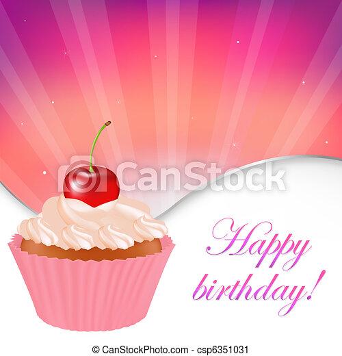 Happy Birthday Card - csp6351031