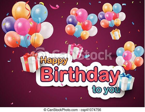 Happy birthday celebration - csp41074756
