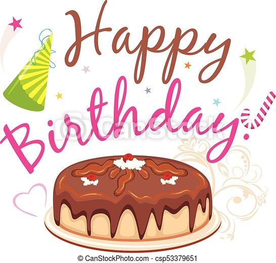 Clipart Of Happy Birthday Cakes