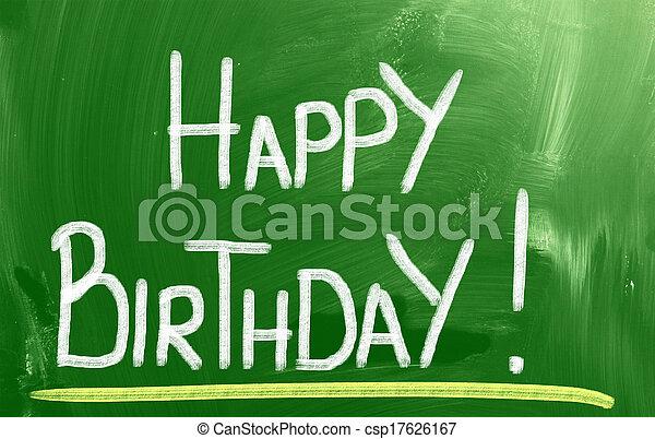 Happy Birthday Concept - csp17626167