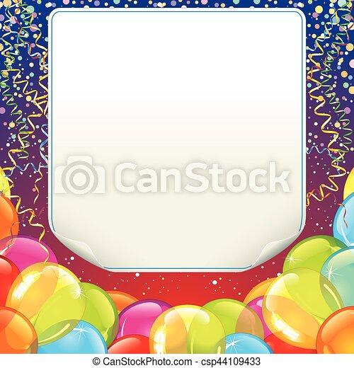 Happy Birthday Design Background - csp44109433