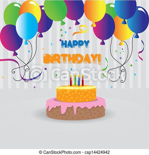 happy birthday design - csp14424942