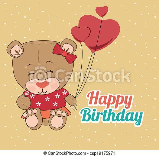 Happy birthday design - csp19175971