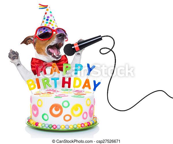 happy birthday dog - csp27526671